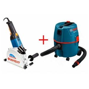 Аренда штробореза Фиолент Б2-30 и пылесос Bosch GAS 20